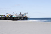 Jersey Shore Metal Prints - Seaside Pier Metal Print by Kristi Jacobsen