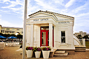 Northwest Florida Posters - Seaside Post Office Poster by Scott Pellegrin