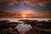 Exposure Framed Prints - Seaside Reef Sunset 13 Framed Print by Larry Marshall