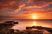Larry Marshall Prints - Seaside Reef Sunset 15 Print by Larry Marshall