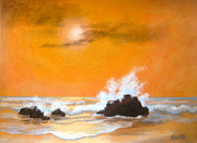 Serenity Scenes Landscapes Paintings - Seaside  Symphony  by Shasta Eone