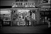 Seaside Union Jacks Print by David Riccardi