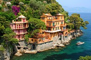 Portofino Italy Prints - Seaside Villas Print by Dan Breckwoldt