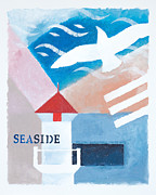 Seaside Mixed Media - Seaside whiteborder by Lutz Baar