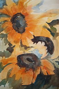 Pat Crowther - Season End Sunflowers