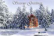 Winter Scene Digital Art Prints - Season Greeting- Warm Wishes Holiday Card Print by Janie Johnson