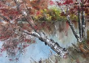 Fall  Of River Paintings - Season of Change by Stephanie Sodel