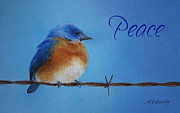 Bluebird Pastels Framed Prints - Season of Peace Framed Print by Marna Edwards Flavell