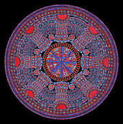 Lawrence Chvotzkin Metal Prints - SEASONAL SPIN Mandala II Metal Print by Lawrence Chvotzkin