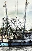 Boaters Photo Prints - Seasoned Fishing Boat Print by Debra Forand