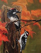 Animals Paintings - Seasons by Gilles Delage