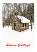 Seasons Photo Posters - Seasons Greetings Christmas Card Poster by Edward Fielding