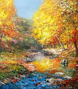 Seasons Of Life Print by Zeana Romanovna