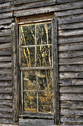 Cabin Window Prints - Seasons Past Print by Benanne Stiens