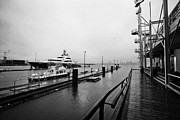 seaspan marine tugboat dock city of north Vancouver BC Canada Print by Joe Fox
