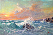 Sicily Paintings - Seastorm by M Illusi