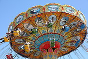 Swings Photos - Seaswings At Santa Cruz Beach Boardwalk California 5D23908 by Wingsdomain Art and Photography