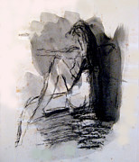 James Gallagher - Seated Figure Ink Wash