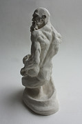 Nude Sculptures - Seated Genie  by Derrick Higgins