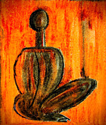 Postcards Art - Seated man by Nirdesha Munasinghe