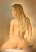 Margaret Merry Framed Prints - Seated Nude Framed Print by Margaret Merry
