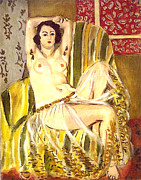 Impressionism Framed Prints Prints - Seated Odalisque Print by Henri Matisse