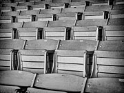 Empty Chairs Prints - seats 5810BW Print by Rudy Umans