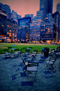 Emily Stauring Acrylic Prints - Seats In The City Acrylic Print by Emily Stauring