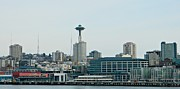 Seattle Waterfront Greeting Cards Framed Prints - Seattle 1 Framed Print by Chalet Roome-Rigdon
