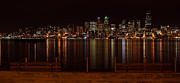 Eddie Yerkish Framed Prints - Seattle At Night Framed Print by Eddie Yerkish
