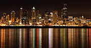Panoramic Pyrography - Seattle at Night by Richard Burton