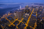 Seattle Prints - Seattle Awakens Sunrise Print by Mike Reid