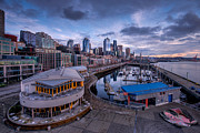 Puget Sound Art - Seattle Bell Street Pier by Dan Mihai
