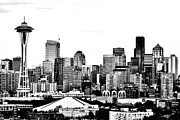 Urban Space Framed Prints - Seattle Black And White Framed Print by Benjamin Yeager