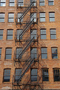 Flight Of Stairs Photos - Seattle Building by Marilyn Wilson