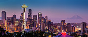 Seattle Skyline Art - Seattle Dawn by Brian Jannsen