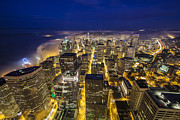 Grid Photos - Seattle Downtown Dreamscape by Mike Reid