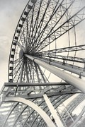 Seattle Waterfront Framed Prints - Seattle Ferris Wheel Framed Print by Spencer McDonald