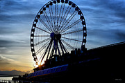 Cheryl Young Metal Prints - Seattle Great Wheel Metal Print by Cheryl Young