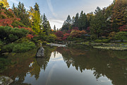 Japanese Garden Photos - Seattle Japanese Garden Serenity by Mike Reid