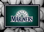 Baseball Bat Photo Framed Prints - Seattle Mariners Framed Print by Joe Hamilton