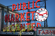Locally Grown Metal Prints - Seattle Market  Metal Print by Brian Jannsen