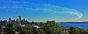 Jets Photos - Seattle Seafair Panorama by Benjamin Yeager