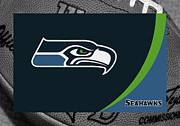 Ball Photos - Seattle Seahawks by Joe Hamilton
