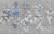 Seattle Greeting Cards Prints - Seattle Seahawks Legends Print by Joe Hamilton