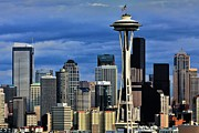 Seattle Skyline Framed Prints - Seattle Skyline Framed Print by Benjamin Yeager