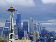 Christopher Fridley Prints - Seattle Skyline Print by Christopher Fridley