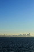 Pearl Jam Prints - Seattle Skyline Print by Hans Koepsell