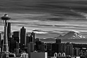Jon Mack - Seattle Skyline in Black...