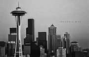 Old School Houses Framed Prints - Seattle Skyline Framed Print by JR Photography